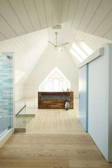 In Cambridge An Attic Master Suite With An Open Bathroom